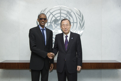 Secretary-General Meets President of Rwanda