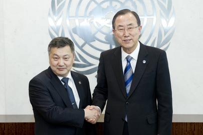Secretary-General Meets Speaker of Parliament of Mongolia