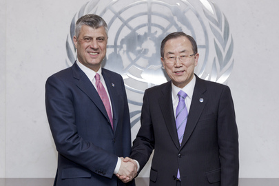 Secretary-General Meets Representative of Kosovo Authorities