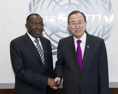 Secretary-General Meets DRC Foreign Minister