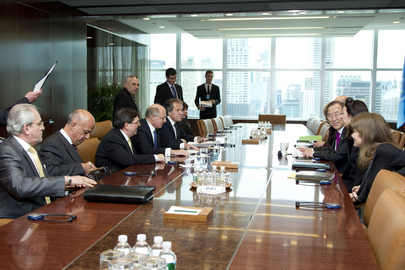 Secretary-General Meets Foreign Ministers of Argentina, Cuba, Uruguay, Deputy Minister of Peru