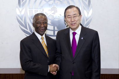Secretary-General Meets Former South African President, Chair of AU Panel on Sudan
