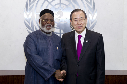 Secretary-General Meets Former Nigerian President, Member of AU Panel on Sudan