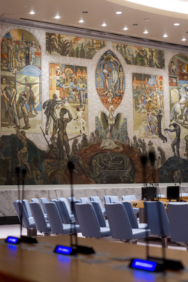 Security Council Chamber Renovations Nearing Completion