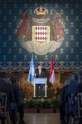 Secretary-General Addresses Constitutional Bodies of Monaco