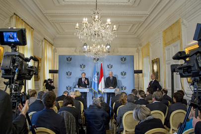 Secretary-General Holds Press Conference with Minister of State of Monaco