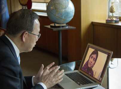 Secretary-General Speaks with Global Education Champion Malala Yousafzai