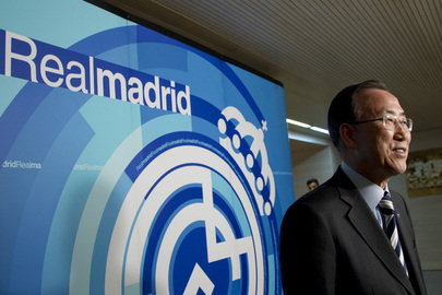 Secretary-General Visits Real Madrid Football Stadium