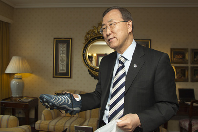 Secretary-General to Kick Off Spanish Football Match