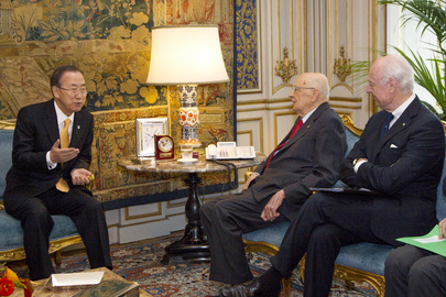 Secretary-General Meets President of Italy