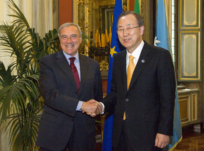 Secretary-General Meets Head of Italian Senate