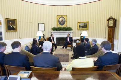 Secretary-General Meets United States President