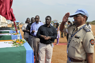 Memorial Ceremony for Five Indian Peacekeepers in UNMISS