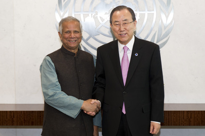 Secretary-General Meets MDG Advocate