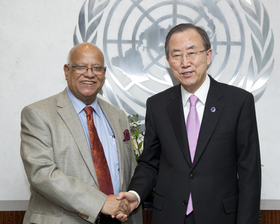 Secretary-General Meets Finance Minister of Bangladesh