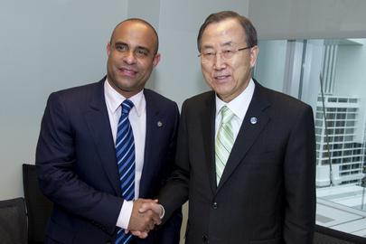 Secretary-General Meets Haitian Prime Minister