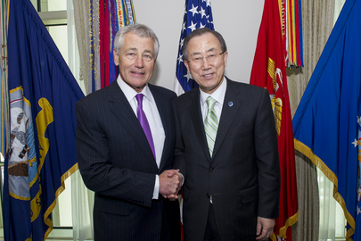 Secretary-General Meets US Defence Secretary