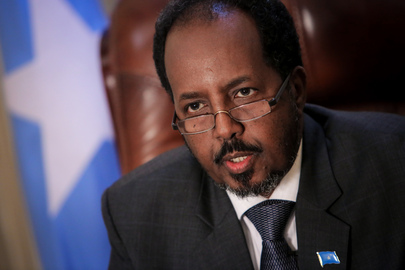 President of Somalia in His Office in Mogadishu