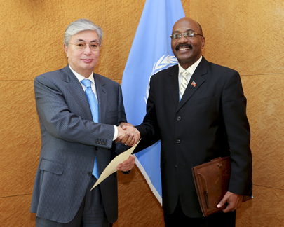 Permanent Representative of Haiti to UNOG Presents Credentials