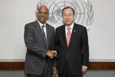 Secretary-General Meets Prime Minister of Belize