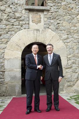 Secretary-General Meets President of Andorran Parliament