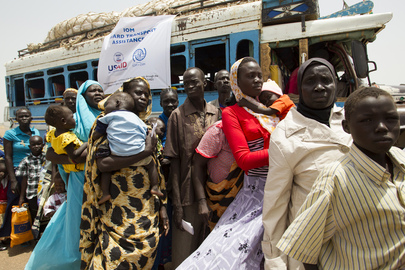 South Sudanese Returnees Board Plane for Journey Home