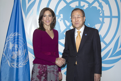 Secretary-General Meets Crown Princess of Denmark