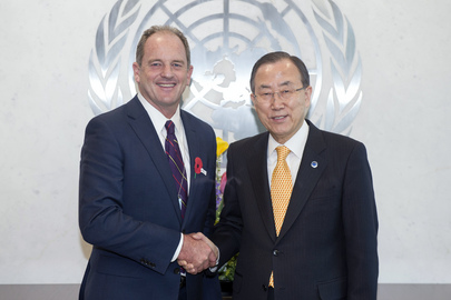 Secretary-General Meets New Zealand's Opposition Leader