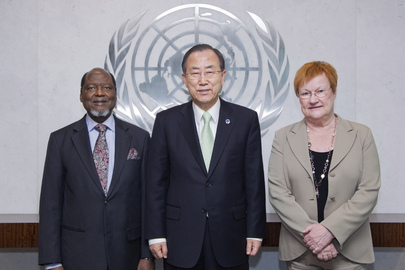 Secretary-General Meets Co-Chairs of Population Task Force
