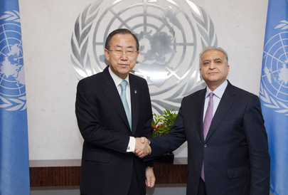Secretary-General Meets Permanent Representative of Iraq