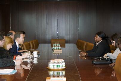 Secretary-General Meets ICC Prosecutor