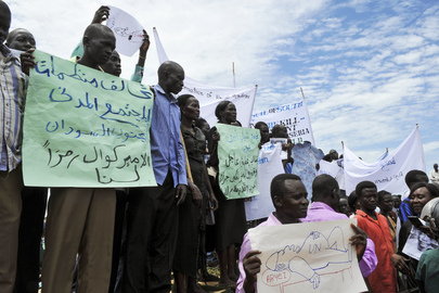 Members of Abyei Community Demonstrate in Memory of Slain Chief