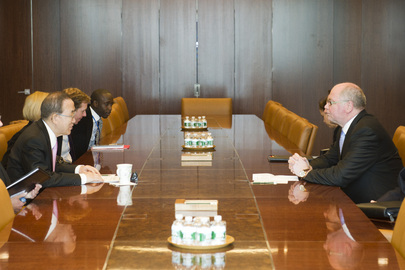 Secretary-General Meets Finland's Speaker of Parliament