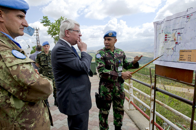 UN Peacekeeping Chief Tours Blue Line in Lebanon