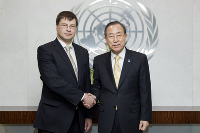Secretary-General Meets Prime Minister of Latvia