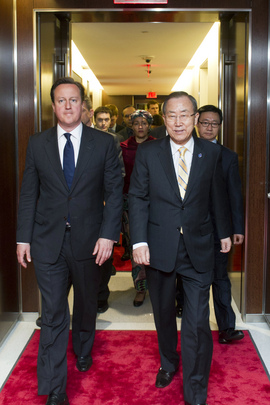 Secretary-General Meets U.K. Prime Minister
