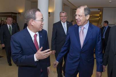 Secretary-General Meets with Foreign Affairs Minister of Russian Federation