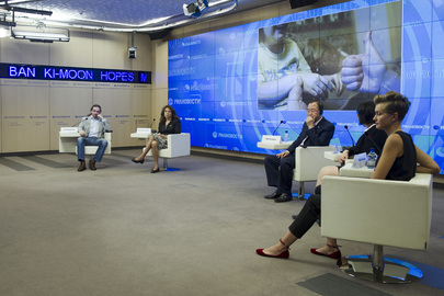 Secretary-General Appears on Russian Talk Show