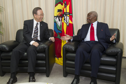 Secretary-General Meets President of Mozambique
