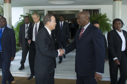 Secretary-General Speaks to Press with Foreign Minister of Mozambique