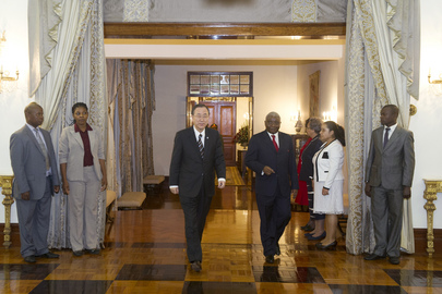 President of Mozambique Hosts Dinner for Secretary-General