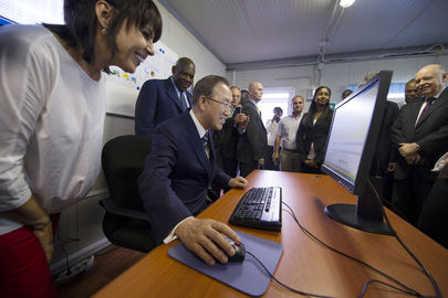 Secretary-General Tours UN Regional Service Centre in Entebbe