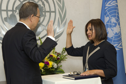 Secretary-General Swears in Chief Information Technology Officer, Assistant Secretary-General