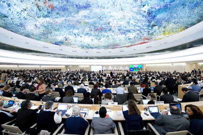 Wide view of the 23rd session of the Human Rights Council. 27 May 2013 Geneva, Switzerland