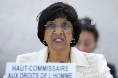 Navi Pillay, United Nations High Commissioner for Human Rights, addresses the Human Rights Council at the opening of its 23rd session. 27 May 2013 Geneva, Switzerland