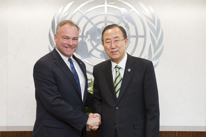 Secretary-General Meets with U.S. Senator from Virginia