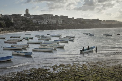 Early Morning Scene at Old Port of Mogadishu