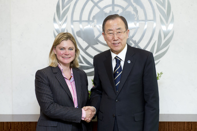 Secretary-General Meets U.K. Secretary for International Development