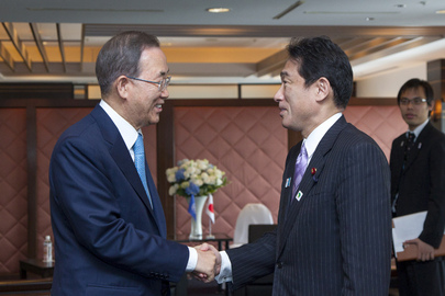 Secretary-General Meets Foreign Minister of Japan
