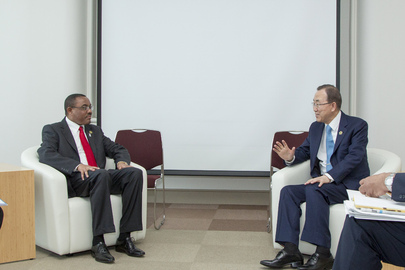 Secretary-General Meets Prime Minister of Ethiopia